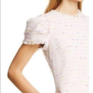 Kate Spade Puff Sleeve Tweed Mini Dress
